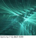 Волны. Фрактал. Стоковая иллюстрация, иллюстратор Виктор Сухарев / Фотобанк Лори
