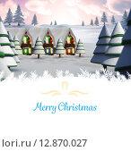 Christmas greeting card. Стоковое фото, агентство Wavebreak Media / Фотобанк Лори