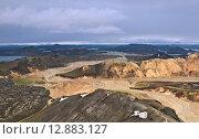 Горное плато в Исландии. Стоковое фото, фотограф Константин Ламин / Фотобанк Лори