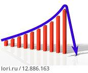 3д график c ростом прогресса и падения. Стоковая иллюстрация, иллюстратор Денис Рубцов / Фотобанк Лори