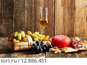Купить «Grapes, grappa and cheese», фото № 12886451, снято 8 октября 2015 г. (c) Николай Охитин / Фотобанк Лори