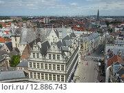 Вид сверху на бельгийский Гент. Стоковое фото, фотограф Анатолий Баранов / Фотобанк Лори