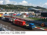 Подготовка к проведению Формулы 1 в Сочи (2014 год). Редакционное фото, фотограф Свистунов Павел / Фотобанк Лори