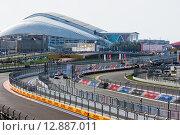 Купить «Трасса Формулы 1 в Сочи», фото № 12887011, снято 12 октября 2014 г. (c) Свистунов Павел / Фотобанк Лори