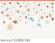 Купить «Valentines love greeting card background elements», иллюстрация № 12893743 (c) PantherMedia / Фотобанк Лори