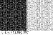 Купить «Isometric 3d line cube pattern background», иллюстрация № 12893907 (c) PantherMedia / Фотобанк Лори