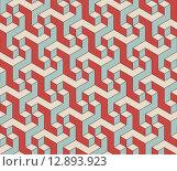 Купить «Abstract isometric 3d seamless pattern background», иллюстрация № 12893923 (c) PantherMedia / Фотобанк Лори
