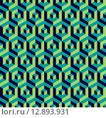 Купить «Isometric 3d hexagon seamless pattern background», иллюстрация № 12893931 (c) PantherMedia / Фотобанк Лори