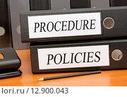 Купить «Procedure and Policies», фото № 12900043, снято 20 мая 2019 г. (c) PantherMedia / Фотобанк Лори