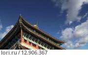 Ворота Zhengyangmen (Qianmen). Это знаменитые ворота расположены в южной части площади Тяньаньмэнь в Пекине, Китай (2015 год). Стоковое видео, видеограф Владимир Журавлев / Фотобанк Лори