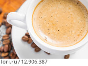 Купить «Cappuccino view from the top», фото № 12906387, снято 9 октября 2015 г. (c) Алёшина Оксана / Фотобанк Лори