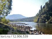 Купить «Река Бия. Республика Алтай», фото № 12906539, снято 5 августа 2014 г. (c) Александр Карпенко / Фотобанк Лори