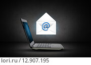 Купить «laptop computer with e-mail icon and letter», фото № 12907195, снято 8 апреля 2020 г. (c) Syda Productions / Фотобанк Лори