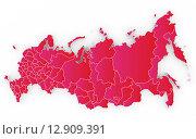Купить «Карта России с Крымом», иллюстрация № 12909391 (c) megastocker / Фотобанк Лори