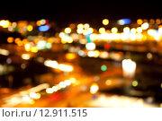 Купить «golden bright lights on dark night background», фото № 12911515, снято 12 октября 2012 г. (c) Syda Productions / Фотобанк Лори
