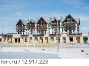 Купить «Shahdag - FEBRUARY 8, 2015: Tourist Hotels on February 8 in Aze», фото № 12917223, снято 8 февраля 2015 г. (c) Elnur / Фотобанк Лори