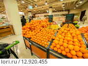 Купить «Dubai - JANUARY 7, 2014: Dubai Supermarket Waitrose on January 7», фото № 12920455, снято 7 января 2014 г. (c) Elnur / Фотобанк Лори