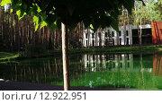 Купить «Пруд в зоне отдыха», видеоролик № 12922951, снято 6 октября 2015 г. (c) Потийко Сергей / Фотобанк Лори