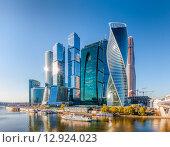 """Небоскребы ММДЦ """"Москва-Сити"""" (2015 год). Редакционное фото, фотограф photoff / Фотобанк Лори"""