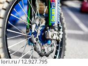 Колесо мотоцикла (2014 год). Редакционное фото, фотограф Иван Маркуль / Фотобанк Лори