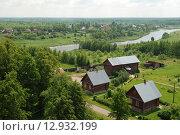 Вид на деревню Маклаково и реку Хотчу Талдомского района Московской области, эксклюзивное фото № 12932199, снято 11 июня 2011 г. (c) lana1501 / Фотобанк Лори