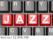 Купить «Jazz button on modern computer keyboard», фото № 12934199, снято 20 января 2019 г. (c) PantherMedia / Фотобанк Лори