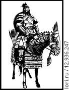 Монгольский полководец. Стоковая иллюстрация, иллюстратор Денис Цыренжапов / Фотобанк Лори