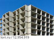 Бетонная конструкция строящегося здания. Стоковое фото, фотограф Игорь Яковлев / Фотобанк Лори