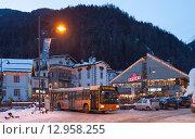 Купить «Горнолыжный курорт Campitello di fassa в Альпах. Италия», фото № 12958255, снято 31 января 2015 г. (c) Донцов Евгений Викторович / Фотобанк Лори