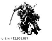 Монгольский темник. Стоковая иллюстрация, иллюстратор Денис Цыренжапов / Фотобанк Лори