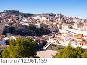 view of Chinchilla de Monte-Aragon from hill (2014 год). Стоковое фото, фотограф Яков Филимонов / Фотобанк Лори