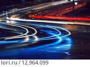 Автомобильные огни (2014 год). Стоковое фото, фотограф Алексей Ильченко / Фотобанк Лори