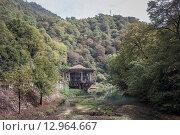 Старая платформа железной дороги Псырцха, Абхазия. Стоковое фото, фотограф Наталья Чуб / Фотобанк Лори