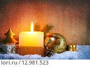 Christmas candles. Стоковое фото, фотограф Swetlana Wall / PantherMedia / Фотобанк Лори