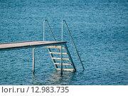 Купить «Jetty at a blue ocean», фото № 12983735, снято 22 мая 2019 г. (c) PantherMedia / Фотобанк Лори
