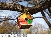 Скворечник в парке. Стоковое фото, фотограф Victoria Demidova / Фотобанк Лори