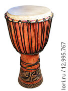 Купить «Африканский национальный барабан», фото № 12995767, снято 19 октября 2015 г. (c) Анна Зеленская / Фотобанк Лори