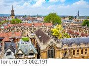 Купить «Вид на город. Оксфорд, Англия», фото № 13002191, снято 19 июня 2013 г. (c) Andrei Nekrassov / Фотобанк Лори