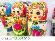 Купить «Русские матрешки», фото № 13004515, снято 30 октября 2015 г. (c) EugeneSergeev / Фотобанк Лори