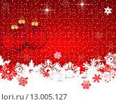 Красный новогодний фон,вектор. Стоковая иллюстрация, иллюстратор Мастепанов Павел / Фотобанк Лори