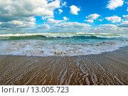 Осенний шторм на море. Стоковое фото, фотограф Кононенко Александр / Фотобанк Лори