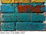Старая, крашенная кирпичная кладка. Стоковое фото, фотограф Павел Мрастев / Фотобанк Лори