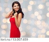 Купить «beautiful sexy woman in red dress», фото № 13007659, снято 25 сентября 2015 г. (c) Syda Productions / Фотобанк Лори