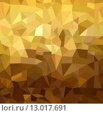Купить «Gold pattern low poly 3d triangle geometry fancy», иллюстрация № 13017691 (c) PantherMedia / Фотобанк Лори