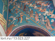 Настенная роспись.Монастырь Киккос, Кипр (2013 год). Стоковое фото, фотограф Фотин Андрей / Фотобанк Лори