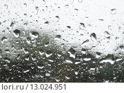 Капли на стекле. Стоковое фото, фотограф Яна Каменькова / Фотобанк Лори