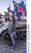 Купить «Селфи на Красной площади 7 ноября в 2015 году», эксклюзивное фото № 13024995, снято 7 ноября 2015 г. (c) Виктор Тараканов / Фотобанк Лори