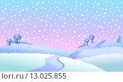 Зимний пейзаж. Стоковая иллюстрация, иллюстратор Миронова Анастасия / Фотобанк Лори