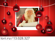 Купить «Composite image of santa claus writing his list with a quill», фото № 13028327, снято 23 июля 2019 г. (c) Wavebreak Media / Фотобанк Лори