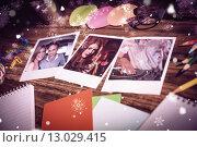 Купить «Composite image of high angle view of office supplies and blank instant photos», фото № 13029415, снято 21 января 2020 г. (c) Wavebreak Media / Фотобанк Лори